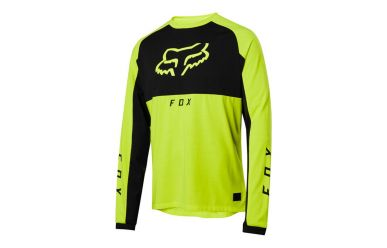 Fox Racing RANGER DR MID LS Langarm Jersey Men Day Glow Yellow