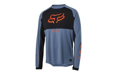 Fox Racing RANGER DR MID LS Langarm Jersey Men Blue Steel