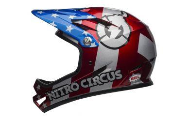 Bell Sanction Fullface Helm red sil blue NitroCircus