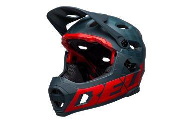 Bell Super DH Spherical Mips Fullface Helm Prime Matte Blue Crimson