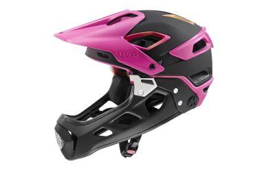 Uvex Jakkyl Hide 2.0 Fullface Helm mit abnehmbaren Kinnbügel, Future Black Matt
