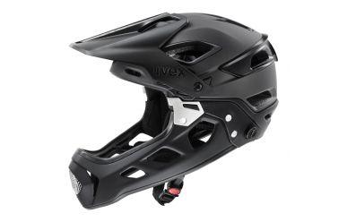 Uvex Jakkyl Hide 2.0 Fullface Helm mit abnehmbaren Kinnbügel, Black Matt