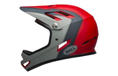 Bell Sanction Fullface Helm Mattte Crimson Slate Dark Gray