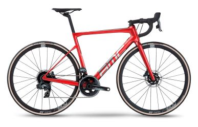 BMC Teammachine SLR TWO Sram Force AXS HRD Prisma Red & Brushed Alloy