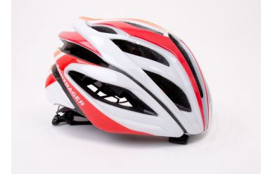 Bontrager Specter Helm Weiss/Red/Orange