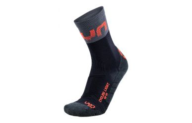 UYN Cycling Light Man Socks Black Grey Hibiscus