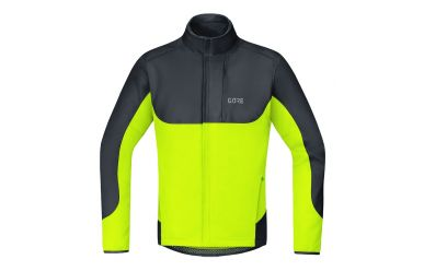 Gore C5 Windstopper Thermo Trail Jacke, men Bleck Neon Yellow