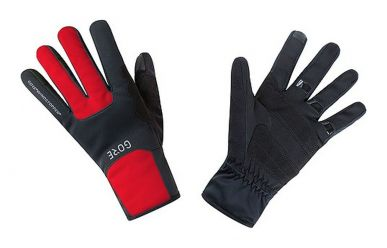 Gore M Windstopper Thermo Handschuhe Black Red 10