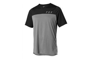 Fox Racing FLEXAIR ZIP SS Jersey Men Pewter