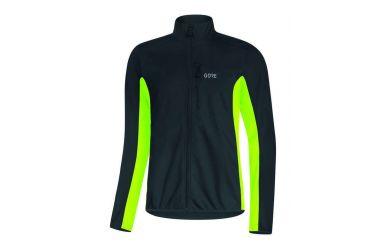 Gore C3 Windstopper Classic Thermo Jacke men black neon yellow