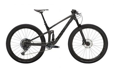 Trek Top Fuel 9.8 Sram GX Eagle Matte Raw Carbon Voodoo Trek Black