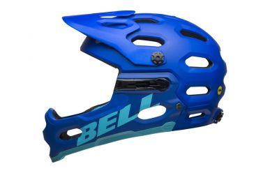 Bell Super 3R Mips Fullface Helm Matte Blue Bright Blue